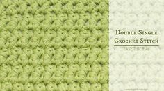 How To: The Double Single Crochet (Mini Puffs) - Easy Tutorial