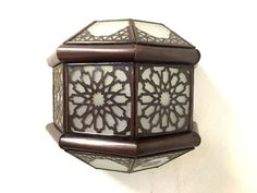 """Moroccan Frosted sconce H:9"""" X L:10.5 """" x W: 5.5"""" - $71.27"""