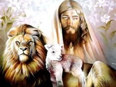 In Matthew and Luke of the New Testament, Jesus is described as a member of the tribe of Judah by lineage. Revelation also mentions an apocalyptic vision of the Lion of the tribe of Judah. Spencer Williams, Peace In The Valley, Christian Paintings, Christian Artist, Christian Music, Christian Warrior, Lion And Lamb, Pictures Of Jesus Christ, Les Gifs