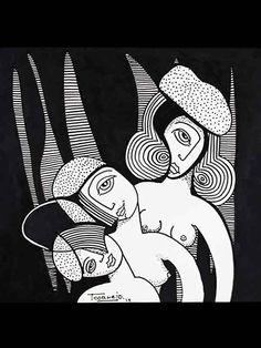 DIBUJO B-02 -  #Acuarela, #Arte, #BlancNoise, #Blanco, #Mujer, #NEGRO, #Teresa_Cornejo, #Tinta