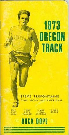 Pre Duck Dope media guide 1973 Oregon track