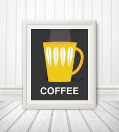 Coffee Scandinavian Inspired Print Coffee by BentonParkPrints, $12.00