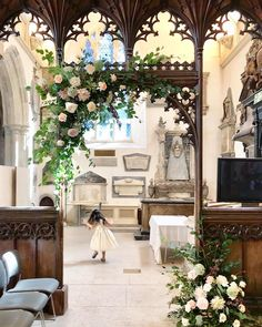 Asymmetric floral arch for the South Transept FLOWERS by EiLeen Ting ( Floral Arch, Table Decorations, Photo And Video, Fern, Spring, Videos, Flowers, Photos, Wedding