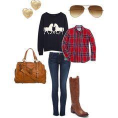 """""""Easy Fall Outfit"""" by aprwhittington on Polyvore"""