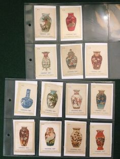 13x Collectors Silk BDV B.D.V. Phillips Cigarettes Silks - Ceramic Art - c1925