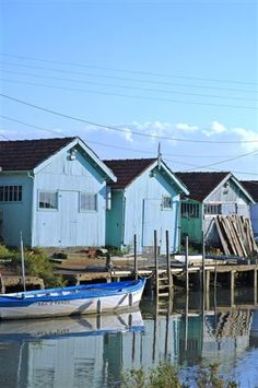 Ile d Oléron Cap Ferret, Aquitaine, Wooden Boats, Belle Photo, Shed, Around The Worlds, Outdoor Structures, House Styles, Places