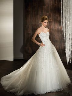 Demetrios Fall 2012 wedding dress (Click through for the full collection) #sparkly #ballgown #sweetheart