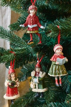 Lot de 2 anges Arbre de Noël Suspendu Décoration vintage effet vieilli argent vieilli
