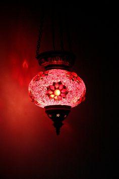 Large Turkish Moroccan Mosaic Hanging Lamp Pendant by TurkishBits