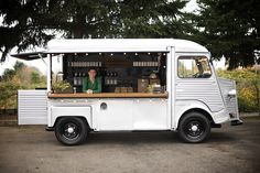 Okay... Its not a coffee car, but there is a place for een little one! Wine on Wheels: Union Wine Co. in Portland, OR: Remodelista