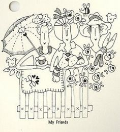 Pattern by by Red Brolly Hand Embroidery Patterns, Applique Patterns, Embroidery Applique, Cross Stitch Embroidery, Machine Embroidery, Stitch Patterns, Applique Designs, Broderie Primitive, Red Brolly