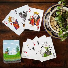 Excited to share this item from my shop: Husky Malamute playing cards with case, Made in USA Poker cards, Husky lover gifts, Alpine lake, Dog print on both sides New York City Central Park, Summer Scenes, Alpine Lake, Dog Mom Gifts, Over The Rainbow, Picture Design, Dog Design, Mother Gifts, Cute Gifts