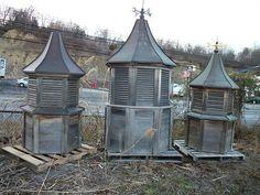via BKLYN contessa :: weathered mahogany barn cupolas   ebay