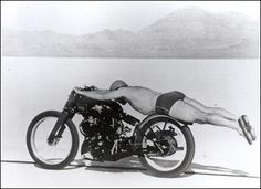 """Roland """"Rollie"""" Free rode """"Gunga Din,"""" a Vincent HRD V-Twin, the ninth in the new Black Shadow series, to a smouldering 150.313 mph in 1947"""