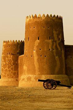 Fort Zubarah in north-western Qatar (by Bawra).