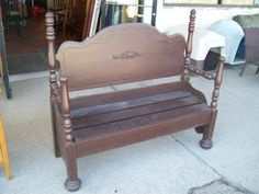 Was $200. Bench, custom made from headboard, cappuccino finish 59x21x52H