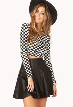 Cool-Girl Skater Skirt | FOREVER21 - 2000140242