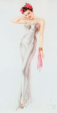 Pin-up art by Alberto Vargas