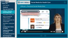 Social Media for Health Care - Self-Paced Online Course  10+ videos on social media and HIPAA compliance for covered entities.  MORE INFO: http://complysocially.com/social-media-health-care-providers/
