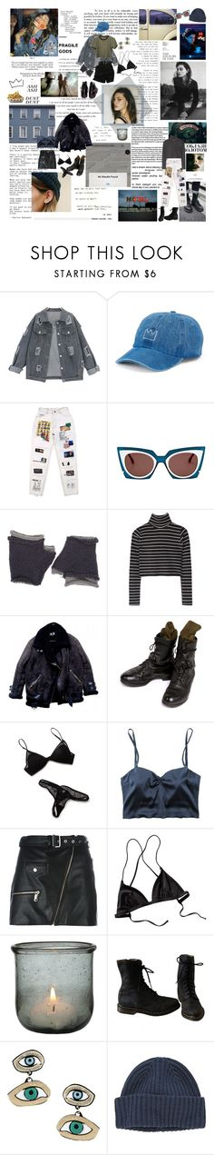 """SNITCHES GET STITCHES"" by lonaxos ❤ liked on Polyvore featuring Privé, SO, Fendi, Wooden Ships, Helmut Lang, Zinke, Manokhi, Patagonia, Besa Lighting and Patricia Nicolas"