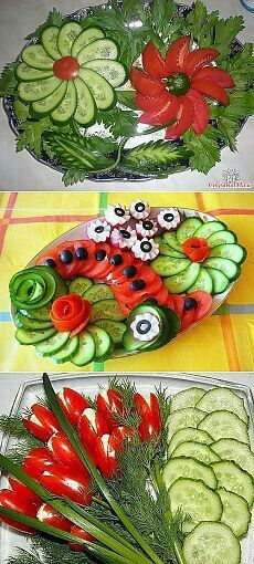 Pasta recetas ensaladas Ideas for 2019 Veggie Platters, Veggie Tray, Food Platters, Vegetable Trays, Veggie Food, Cute Food, Good Food, Awesome Food, Creative Food Art