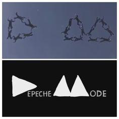 "Depeche Mode 's logo is in the air/4000 mt !!!! Wonderful italian parachutist team "" Turbolenza"" Great! Love it ♥♥"