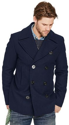 Ralph Lauren Denim & Supply Wool-Blend Melton Pea Coat