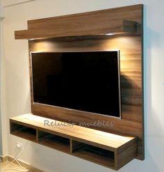 modular panel flotante tv led lcd rack organizador oferta Tv Unit Furniture Design, Tv Unit Interior Design, Tv Unit Decor, Tv Wall Decor, Panneau Mural Tv, Tv Wall Panel, Led Panel, Lcd Wall Design, Tv Wall Cabinets