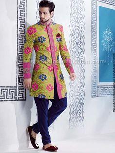 Status Designers Mens suits - Kimkhab Designer Indo western | IN144