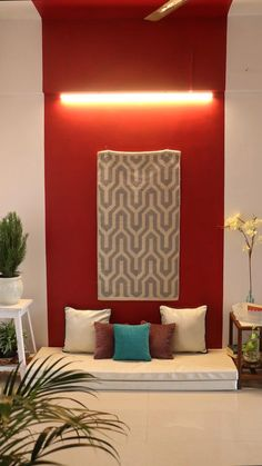 Small Room Design Bedroom, Home Room Design, Home Decor Bedroom, Indian Room Decor, Ethnic Home Decor, Living Room Orange, Paint Colors For Living Room, Apartment Interior Design, Interior Design Living Room