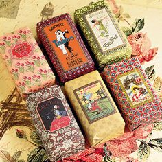 Cologne & Cotton - Claus Porto Vintage Soap - The quality of this soap is renowned throughout the world, each bar in this collection is hand wrapped with an extraordinary design featuring unique graphics from Claus Porto archives. Choose from, honeysuckle, rose, marine, tobacco blossom, violet or tulip.