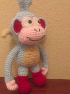 Recién sacaditos del horno, esta parejita de monos. Se llama Botas y es el amigo de Dora la exploradora. No lo conocía, pero me pasaron una...