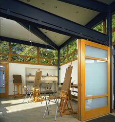 Palisades Art Studio Interior - The interior of the art studio has concrete floor - love!!