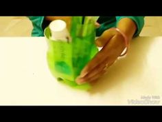 DIY : toothbrush n many other things holder // best out of waste bottle // recycled craft by nidhija - YouTube
