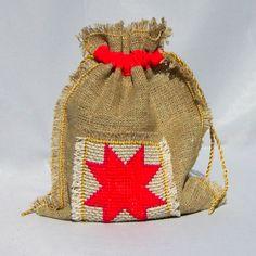 Christmas star gift bag by Mafana on Etsy