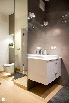 Zdjęcie: Łazienka styl Nowoczesny - Łazienka - Styl Nowoczesny - SHOKO.design Toilet Room Decor, Living Etc, Double Vanity, Mirror, Interior, Bathroom Ideas, Bathrooms, Beige, Furniture