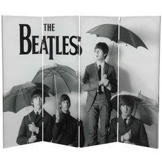 Tall Double Sided The Beatles Umbrellas Canvas Room Divider | Wayfair