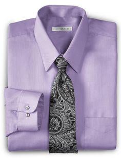 Men's #Fashion #Clothing: Shirts, Tops, Tees, and Sweaters: Geoffrey Beene Big & Tall Tonal Purple Stripe Dress Shirt: Clothes