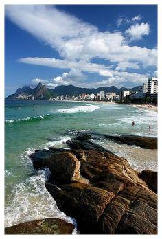 Arpoador Rocks, Rio, Brazil.