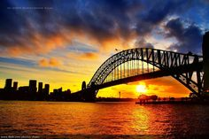 Incredible sunset, Sydney Harbour, New South Wales, Australia Harbor Bridge, Sydney Harbour Bridge, Beautiful World, Beautiful Places, Amazing Places, Wonderful Places, Best Sunset, Beautiful Sunrise, Sunset Photography