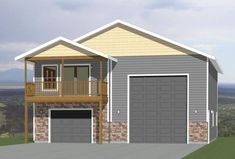 36x42 Apartment -- #36X42H1A Small House Floor Plans, Cabin House Plans, Tiny House Cabin, Cabin Homes, 8x12 Shed Plans, Free Shed Plans, Garage Plans, Car Garage, Garage Ideas