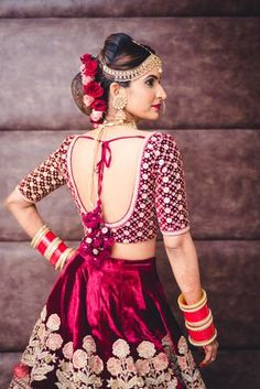 6 Indian Blouse Designs That Make For Perfect Bridal Inspiration For You, Straight Off The Runway Blouse Back Neck Designs, Fancy Blouse Designs, Bridal Blouse Designs, Saree Blouse Designs, Saris, Lehenga, Anarkali, Lehnga Blouse, Indian Bridal Outfits