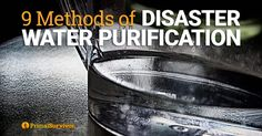 Read the Ways to Purify Water during Emergencies and the Pros/Cons of each method so your water is safe from bacteria, parasites, bacteria, and chemicals.