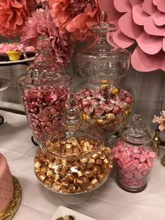 Simple Baby Shower Treats For Girls Dessert Tables Candy . - birthday party - Simple Baby Shower Treats For Girls Dessert Tables Candy Buffet Dessert Tables Pink And Gold birthd - Pink Dessert Tables, Dessert Party, Dessert Ideas, Pink Candy Table, Pink Party Tables, Pink Gold Party, Pink And Gold Birthday Party, Pink Graduation Party, Baby Shower Treats