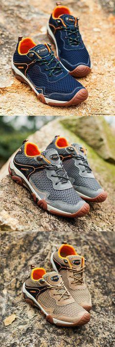 64e97dbe6f US  28.54  Click to buy  Prikol Summer Men Hiking Shoes Climbing Waterproof  Outdoor Trekking