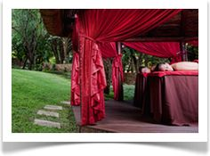 Isiphiwo Spa is set amongst our beautiful manicured gardens. Experience our unique outdoor treatments in exotic draped gazebos complete with fruit platters and champagne. The Spa also boasts its own swimming pool and deck area. A quiet and undisturbed atmosphere is what is provided for those seeking an up market Spa away from city life. Spa Therapy, Spa Packages, Fruit Platters, Spa Day, City Life, Swimming Pools, Gazebo, Exotic, Champagne