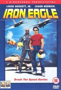 Iron Eagle (1986).  When Doug's father, an Air Force Pilot, is shot down by MiGs belonging to a radical Middle Eastern state, no one seems able to get him out. With Chappy, an Air Force Colonel who is intrigued by the idea of sending in two fighters piloted by himself and Doug to rescue Doug's father, borrow two fighters and get them from California to the Mediteranean without anyone noticing.  Funny: Doug's inability to hit anything unless he has music playing.