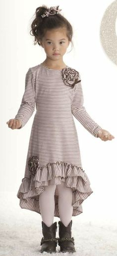 Kate Mack ``Confetti Hearts`` Precious High-Low Pink Stripe DressGoing Fast! Sizes 5-10