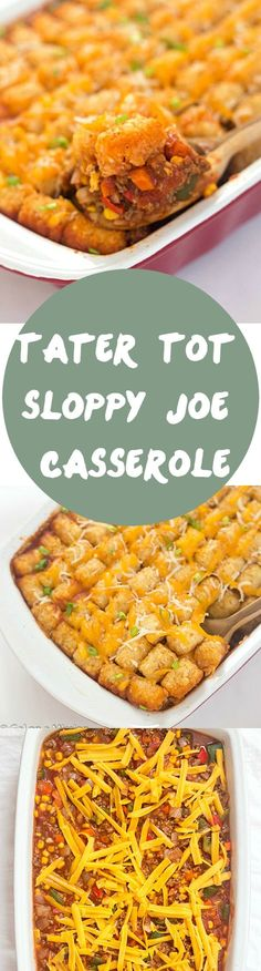 Tater Tot Sloppy Joe Casserole Recipe - A family favorite made into a casserole everyone will enjoy, even the pickiest eaters! Casserole dinners are always a delicious option to feed the entire family. Add to your favorite casserole recipes to mix up your dinner rotation! #YesYouCAN #ad