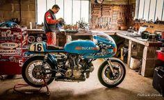 Blue Ducati